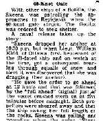 Newspaper Clipping– Details of the loss of HMCS Skeena on October 25, 1944 were only made public in May 1945.  Newspaper Clipping from the Hamilton Spectator, May 16, 1945.  Part 2