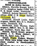 "Newspaper Clipping– Toronto Star ""Pages of Past"" online archive 1943 Jan 16  p.2