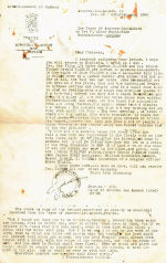 Letter– Letter of condolence from the Mayor of Avesnes-les-Aubert France where Henrys' plane was shot down