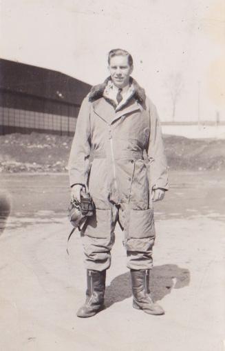 Photo of James Reginald Calder– In his flight suit.