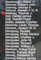 Memorial– Sergeant Thomas Joseph Delaney is also commemorated on the Bomber Command Memorial Wall in Nanton, AB … photo courtesy of Marg Liessens