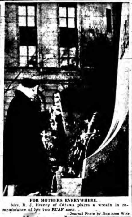 Newspaper Clipping– Mrs Margaret Heeney Silver Cross Mother 1954. Submitted for the project, Operation Picture Me