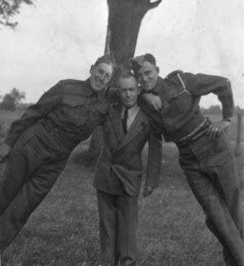 Photo of LLOYD ROBERT THOMSON– Roy Thomson (middle), with his nephews Lloyd and Andy. Submitted for the project Operation Picture Me