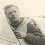 Photo of Hugh McGraw– Hugh Edward McGraw in his Spitfire (England)