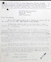 Letter– Letter from Wing Commander explaining the details of the crash.  LAC Ottawa