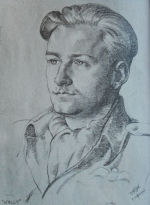 Sketch– Sketch of Walter Ahrens done by friend