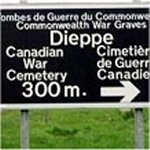 Photo 2 of Dieppe Canadian War Cemetery (Hautot-Sur-Mer)– Graveyard at Dieppe, France a  memorial to those who lost their lives there.