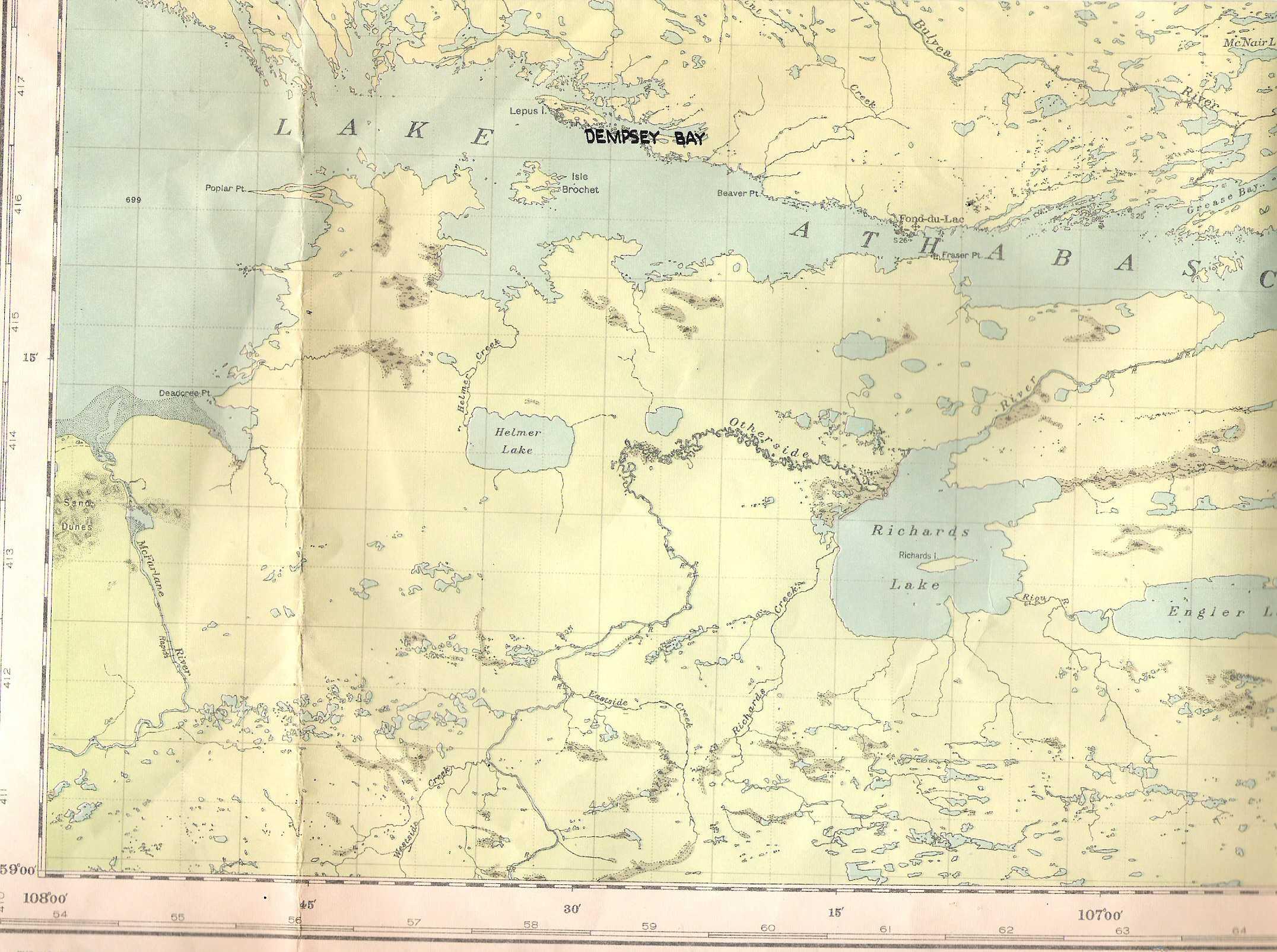 Map– Dempsey Bay, Saskatchewan