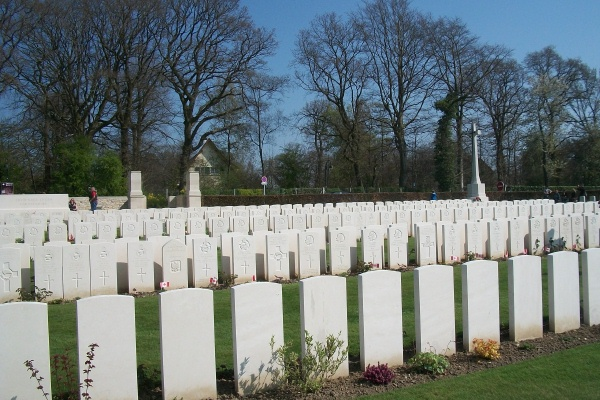 Cemetery– Dieppe Canadian War Cemetery - April 2017 … photo courtesy of Marg Liessens