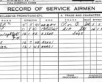 Service Record– Record of Service for Leo DesChamps