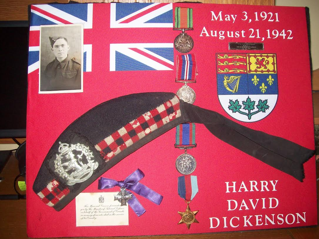 Memorial– This is a shadow box that my mom made of her Uncle Harry in his memory.