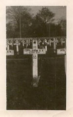 Grave marker– George Alfred DIXON - buried at the Canadian War Cemetery in  Hautot-Sur-Mer F 24