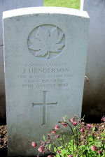 Grave Marker– A photograph of the headstone at the Dieppe Canadian War Cemetery, just outside the Dieppe, France. May he rest in peace. (J. Stephens)