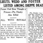 Newspaper Clipping– Source:  Toronto Daily Star, December 14, 1942
