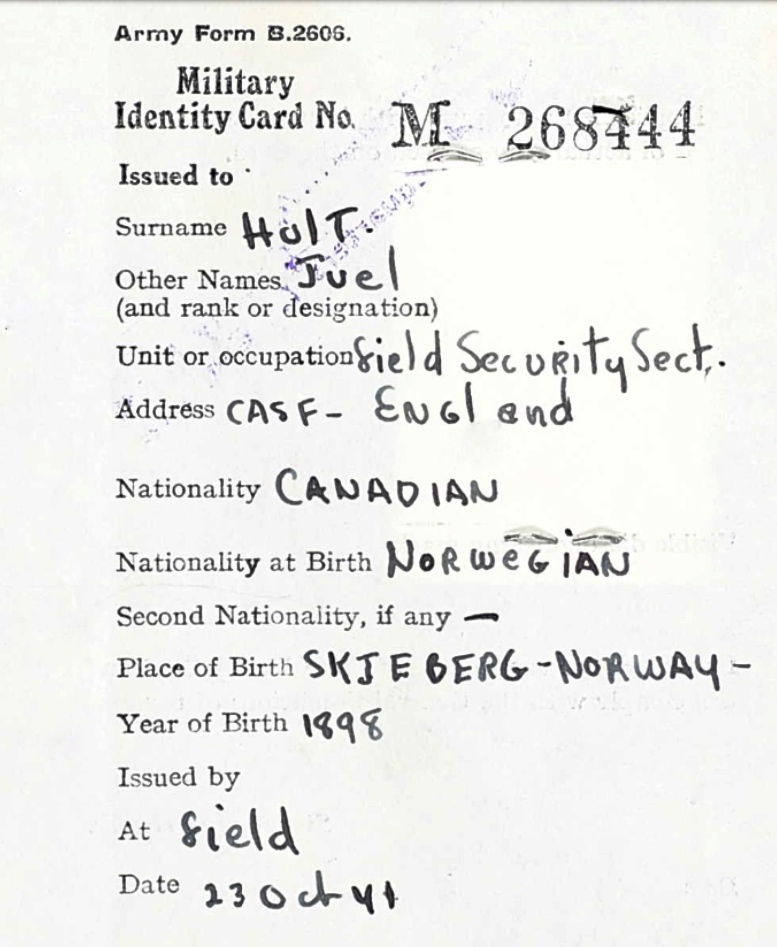 Identity Card (2)– Submitted for the project, Operation Picture Me