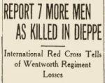 Newspaper clipping– Toronto Star 1942