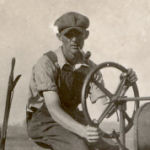 Photo of Daniel McNerney– Dan on Farmall tractor in early 1930's