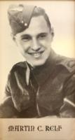 Photo of MARTIN CHARLES RELF– In memory of the students of R H King Academy (formally Scarborough  Collegiate Institute) who went to war and did not come home. Submitted for the project Operation Picture Me.