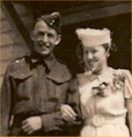 """Wedding photo– Donald Smith married """"Betty"""" Elizabeth MacDonald on May 18, 1940, two weeks before Donald shipped overseas.  She never saw him again."""