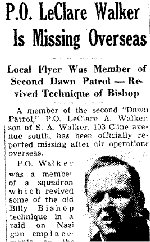 Newspaper Clipping– Source: Hamilton Spectator September 28, 1942