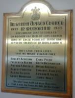War Memorial– Britannia United Church