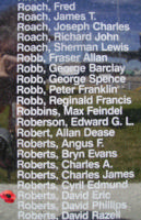 Memorial– Flight Sergeant David Eric Roberts is also commemorated on the Bomber Command Memorial Wall in Nanton, AB … photo courtesy of Marg Liessens