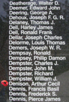 Memorial– Pilot Officer Arthur Cecil Denison is also commemorated on the Bomber Command Memorial Wall in Nanton, AB … photo courtesy of Marg Liessens