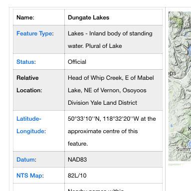 Dungate Lakes– DUNGATE LAKES, BRITISH COLUMBIA, CANADA