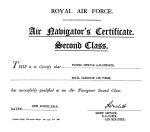 Certificate– Air Navigator's Certificate