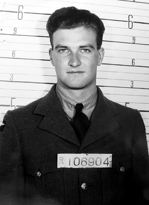 """Photo of Alfred William Dungate– in his Civilian Clothes for his """"Escape and Evade"""" Photo"""