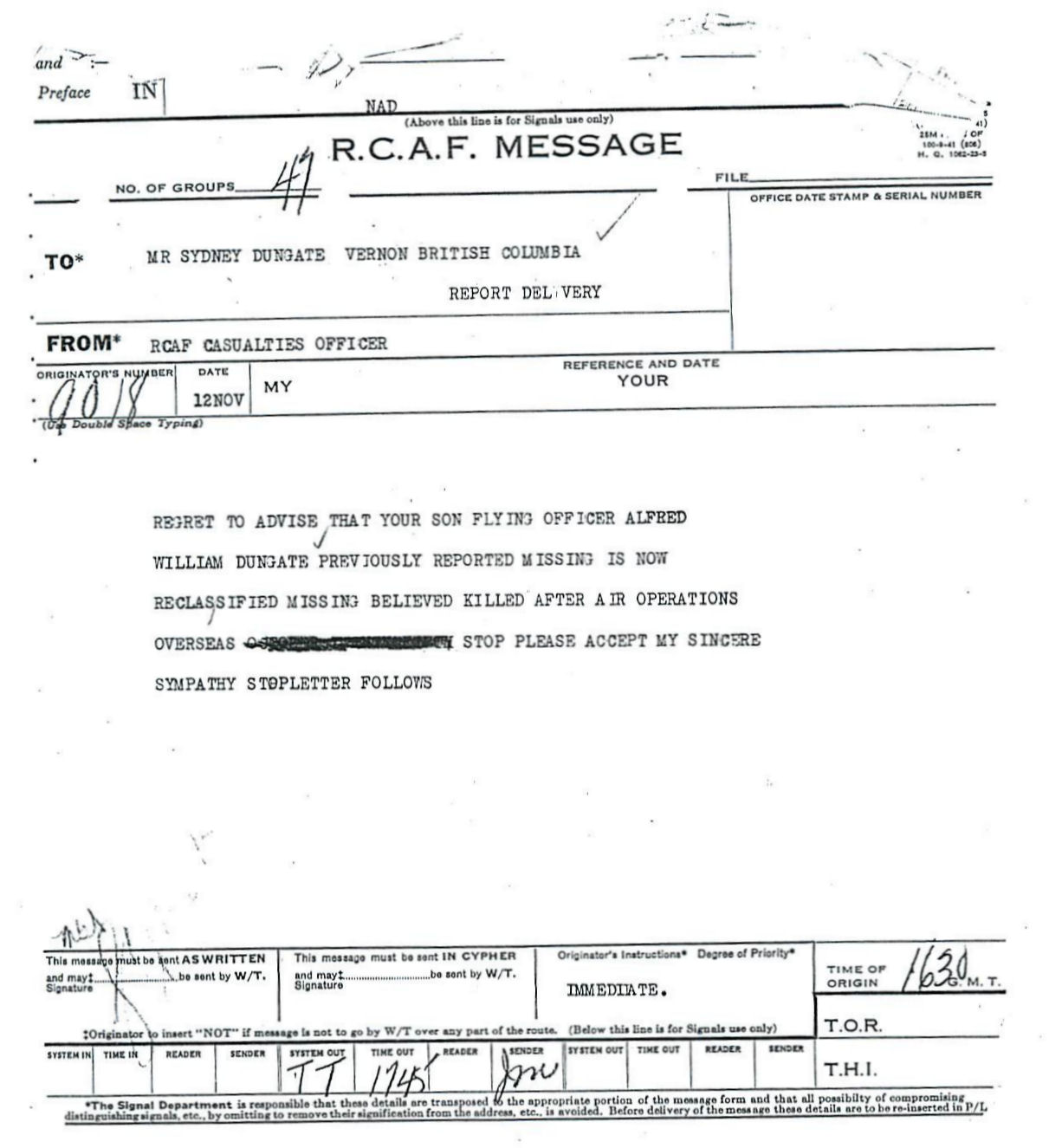 RCAF Message