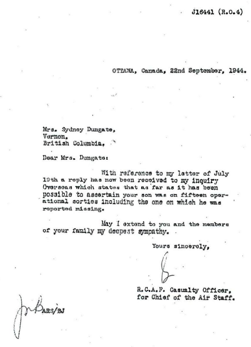 Letter (September 22, 1944)