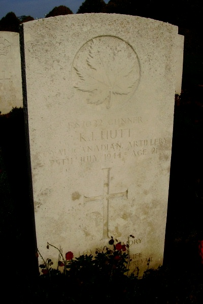Grave Marker– Grave marker - Bayeux War Cemetery … photo courtesy of Marg Liessens