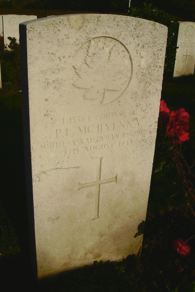 Grave Marker– Grave marker - Bayeux War Cemetery … photo courtesy of Marg Liessens