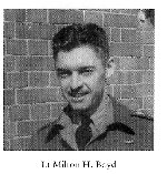 Photo of Milton Howard Boyd– From:  University of Toronto Memorial Book Second World War 1939-1945.  The book was published by the Soldiers' Tower Committee, University of Toronto.   Submitted with permission, by Operation Picture Me.