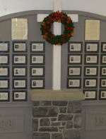 Memorial– The Perth and District Collegiate Institute Wall of Valour dedicated to the former students who died during WWI and WWII.