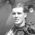 Photo of Frank Joel Clark– Flight Lieutenant Frank Joel Clark of Montreal, Quebec. Age 23(DND Photo Number PL 29567)