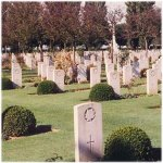 Cemetery– Bretteville-sur-Laize Cemetery, Normandy, France. Photo used with permission from the Louis Lanfranchie collection.