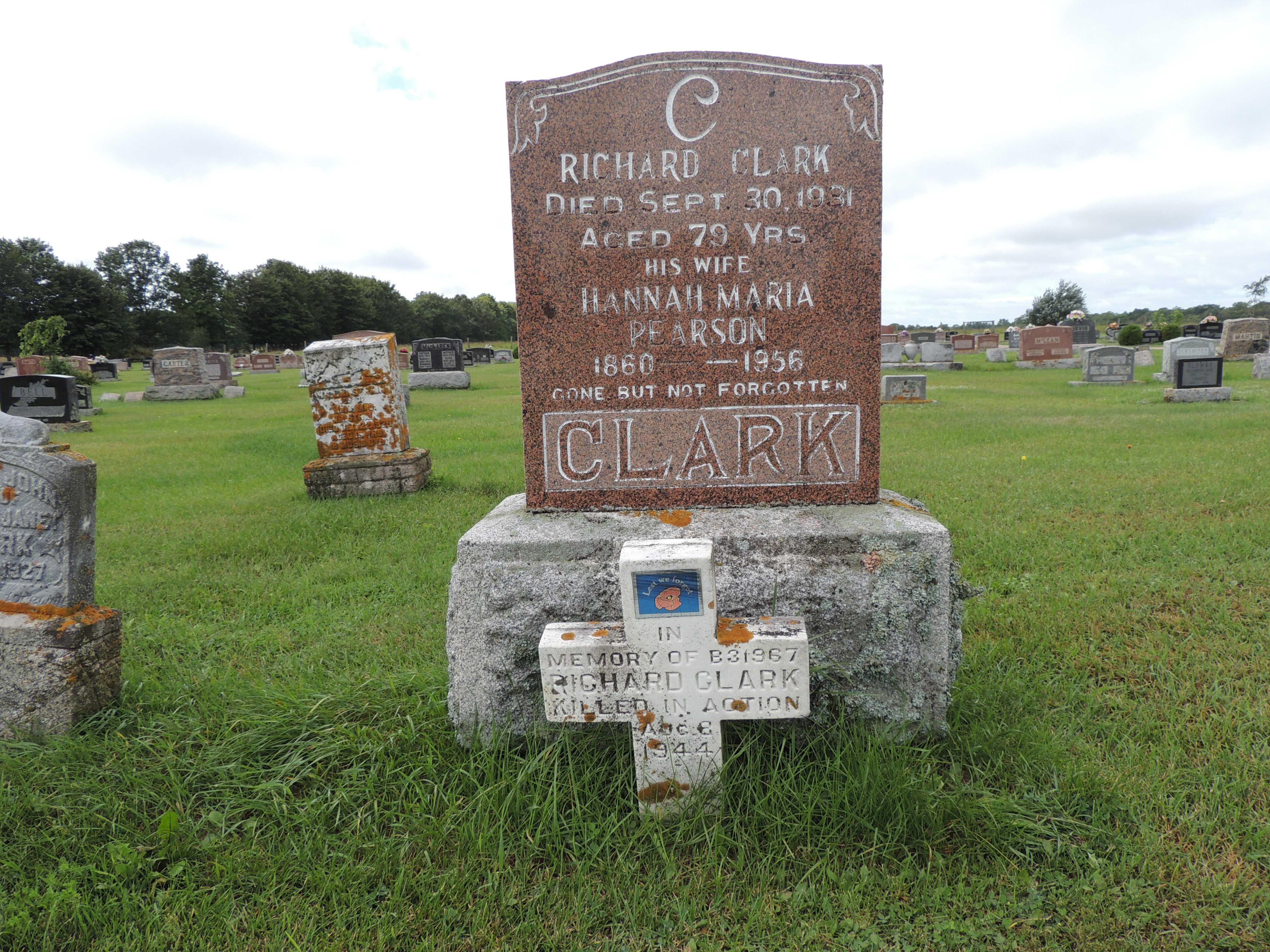 Grave Marker– Gordon Cemetery, Manitoulin Island, ON