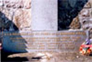 Plaque– Plaque on the memorial stone