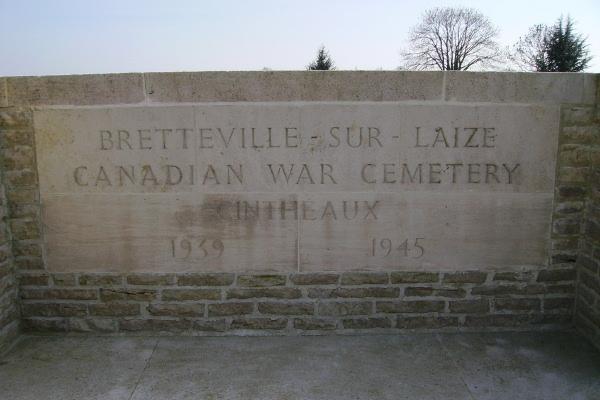 Entrance– Bretteville-sur-Laize Canadian War Cemetery ... photo courtesy of Marg Liessens