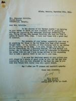 Letter– 1944 Letter replying to Mrs. Colville's letter, after Sandy was killed,  LAC, Ottawa