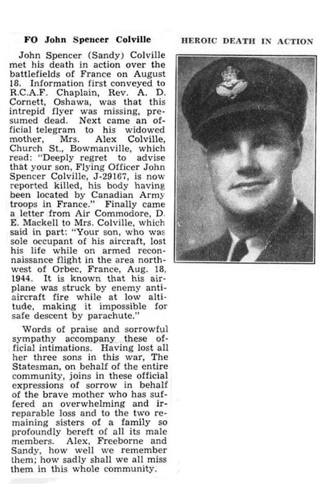 Newspaper Clipping– From the research work done by Margaret Rose Gaunt and submitted for the project Operation Picture Me