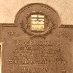 Commemorative Plaque– Plaque dedicated to the memory of all Alberta civil servants killed serving their country during the Second World War. This Plaque is proudly displayed in the main entrance of the Alberta Legislature.