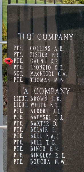 Memorial– Private Douglas Peter Gaunt is also commemorated on the Lake Superior Regiment (Motor) Memorial located in Hillcrest Park, Thunder Bay, ON … May 2018 ... photo courtesy of Marg Liessens