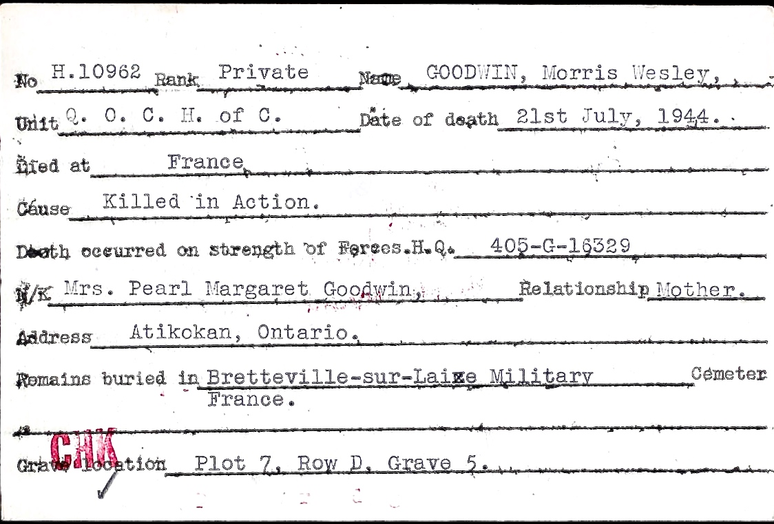 Circumstances of death registers– Submitted for the project, Operation Picture Me