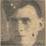 Newspaper Clipping– This image of Pte Gordon was published in a Toronto newspaper and has been preserved in a private collection.