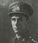 Photo of Robert Gordon Hunter 3– Additional Information courtesy of Annemarie Bruseker: From a letter of consolation written to his mother:  Gord was commanding the Company during an attack by our battalion on a small French village which was taken and held.  We were ordered to dig in and prepare for counter-attacks.  During this, the Company came under heavy enemy shellfire.  One round landed right on the edge of the trench Gord was occupying and he was instantly killed by shrapnel in the back.  During the whole operation he was a great source of confidence and encouragement to all by his fine leadership and consideration.  As always, the men in the Company had the greatest respect and admiration for him.  Your loss is appreciated and shared by us who knew him so well.