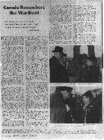 Un page de The Legionary Magazine – Un page de The Legionary Magazine décembre 1961.  Monsieur et Madame Kimmel était à le jour du Souvenir cérémonies en Ottawa.