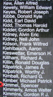 Memorial– Flying Officer Spencer Griffith Kimmel is also commemorated on the Bomber Command Memorial Wall in Nanton, AB … photo courtesy of Marg Liessens